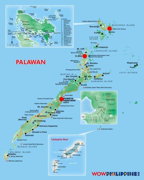 Palawan Map