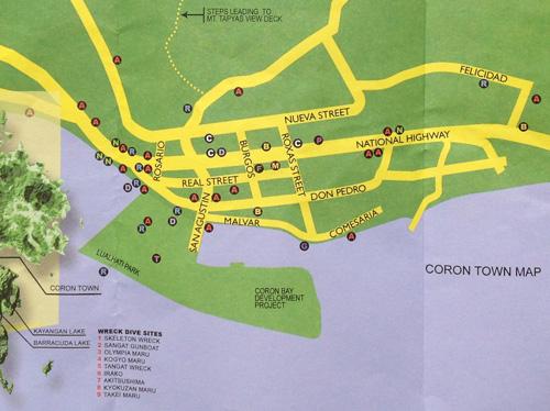 Coron Town Map