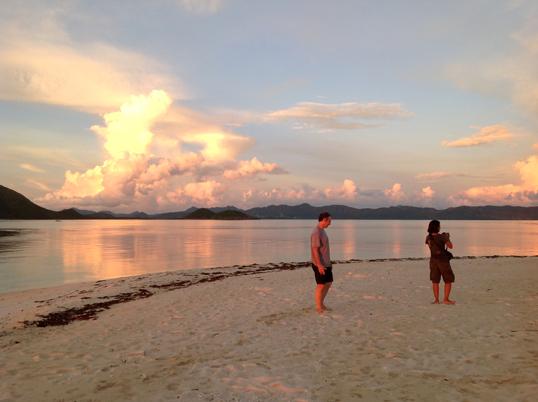 The Sun Sets on Tear Drop Island
