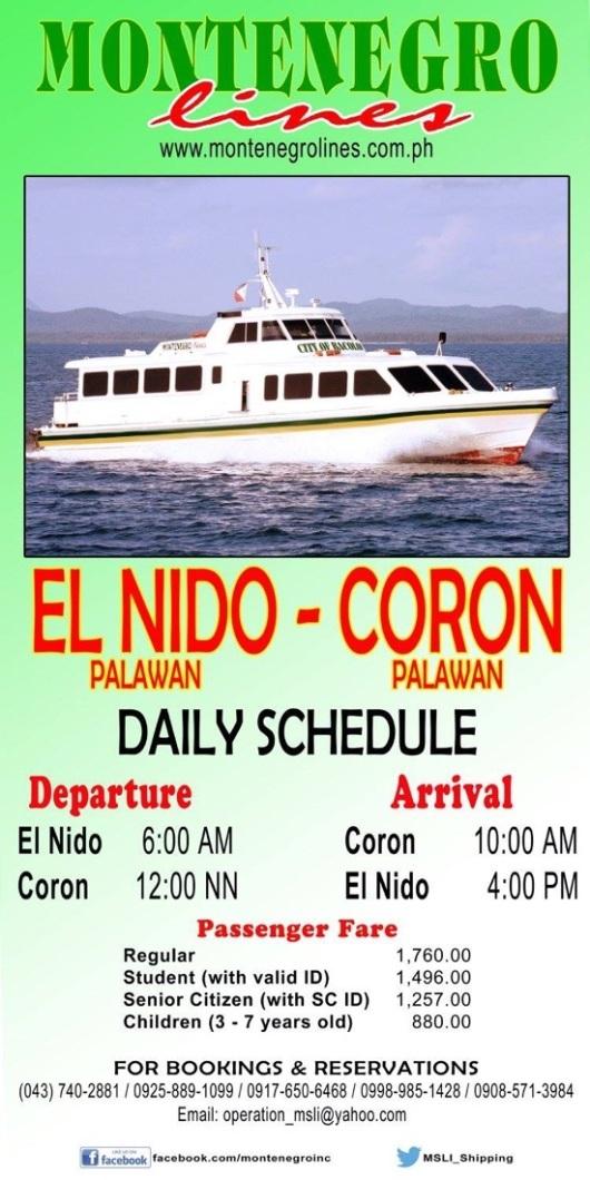 Boat Coron to El Nido