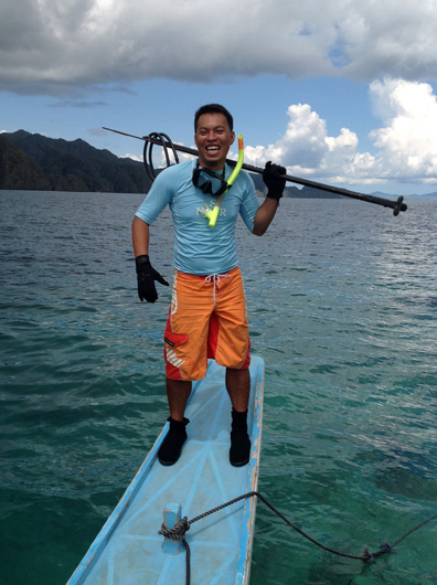 Spear-fishing with Fred