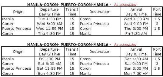 2GO Ferry Schedule